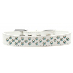 Sprinkles Dog Collar AB Crystals Size 14 White