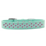 Sprinkles Dog Collar Bright Pink Crystals Size 18 Aqua