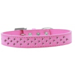 Sprinkles Dog Collar Bright Pink Crystals Size 12 Bright Pink