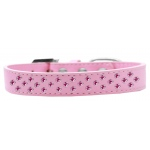 Sprinkles Dog Collar Bright Pink Crystals Size 16 Light Pink