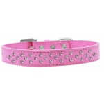 Sprinkles Dog Collar Light Pink Crystals Size 20 Bright Pink
