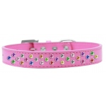 Sprinkles Dog Collar Confetti Crystals Size 18 Bright Pink