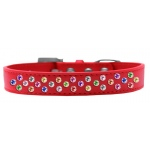Sprinkles Dog Collar Confetti Crystals Size 12 Red
