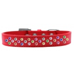 Sprinkles Dog Collar Confetti Crystals Size 14 Red