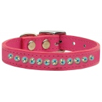 One Row AB Jeweled Leather Pink 12