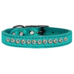 One Row AB Crystal Metallic Leather Turquoise 14
