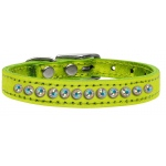 One Row AB Crystal Metallic Leather Lime Green 12