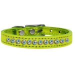 One Row AB Crystal Metallic Leather Lime Green 14