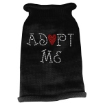 Adopt Me Rhinestone Knit Pet Sweater SM Black