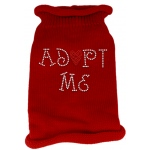 Adopt Me Rhinestone Knit Pet Sweater LG Red
