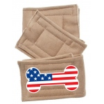 Peter Pads Size LG USA Bone Flag 3 Pack