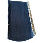 Puppy Pouch Sling Denim w/ Cheetah Trim Size Large