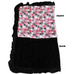 Luxurious Plush Pet Blanket Pink Party Dots 1/2 Size