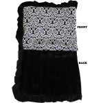 Luxurious Plush Pet Blanket Fancy Black Full Size