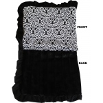 Luxurious Plush Pet Blanket Fancy Black Jumbo Size