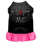 Adopt Me Rhinestone Dress Black with Bright Pink XXL (18)