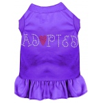 Adopted Rhinestone Dress Purple 4X (22)