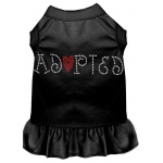 Adopted Rhinestone Dress Black XXL (18)