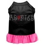 Adopted Rhinestone Dress Black with Bright Pink XXL (18)