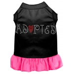 Adopted Rhinestone Dress Black with Bright Pink XXXL (20)