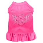Angel Heart Rhinestone Dress Bright Pink 4X (22)