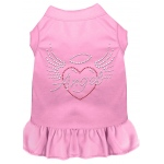 Angel Heart Rhinestone Dress Light Pink 4X (22)