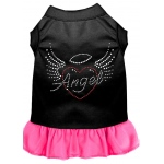 Angel Heart Rhinestone Dress Black with Bright Pink XXL (18)