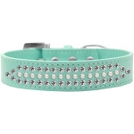 Ritz Pearl and Clear Crystal Dog Collar Aqua Size 12