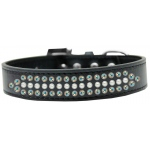 Ritz Pearl and AB Crystal Dog Collar Black Size 12