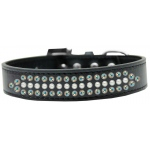 Ritz Pearl and AB Crystal Dog Collar Black Size 14