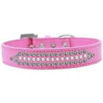Ritz Pearl and AB Crystal Dog Collar Bright Pink Size 12