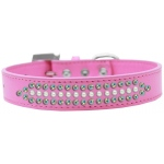Ritz Pearl and AB Crystal Dog Collar Bright Pink Size 20