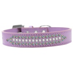 Ritz Pearl and AB Crystal Dog Collar Lavender Size 14