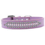 Ritz Pearl and AB Crystal Dog Collar Lavender Size 18