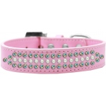 Ritz Pearl and AB Crystal Dog Collar Light Pink Size 16