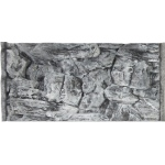Jungle Bob Background for Aquarium: 20x12 Inch, 10 Gallon, Rock, Grey