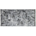 Jungle Bob Background for Aquarium: 30x18 Inch, 29 Gallon, Rock, Grey