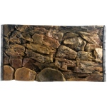 Jungle Bob Background for Aquarium: 24x16 Inch, 20 Gallon High, Rock