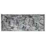 Jungle Bob Background for Aquarium: 30x12 Inch, 20 Gallon Long, Rock, Grey