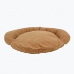Carolina Pet Products VELVET MICROFIBER BOLSTER BED: Chocolate