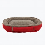 Carolina Pet Products FAUX SUEDE & TIPPED BERBER ROUND COMFY CUP®: Red