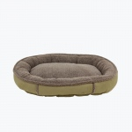 Carolina Pet Products FAUX SUEDE & TIPPED BERBER ROUND COMFY CUP®: Sage