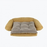 Carolina Pet Products ORTHO SLEEPER COMFORT COUCH® w/ REMOVABLE CUSHION: Caramel