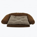 Carolina Pet Products ORTHO SLEEPER COMFORT COUCH® w/ REMOVABLE CUSHION: Chocolate