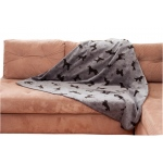 Carolina Pet Products PLUSH EMBOSSED TOSSED DOG THROW: Grey