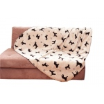 Carolina Pet Products PLUSH EMBOSSED TOSSED DOG THROW: Beige
