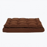 Carolina Pet Products LUXURY PILLOW TOP MATTRESS BED: Chocolate