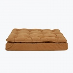 Carolina Pet Products LUXURY PILLOW TOP MATTRESS BED: Caramel