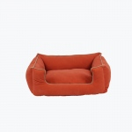 Carolina Pet Products MICROFIBER LOW PROFILE KUDDLE LOUNGE: Apricot
