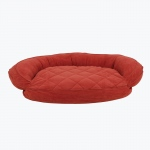 Carolina Pet Products MICROFIBER QUILTED BOLSTER BED with MOISTURE BARRIER PROTECTION: Red